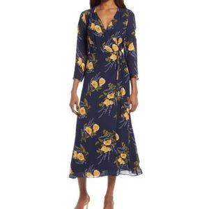Reformation Alessandra Wrap Maxi Dress